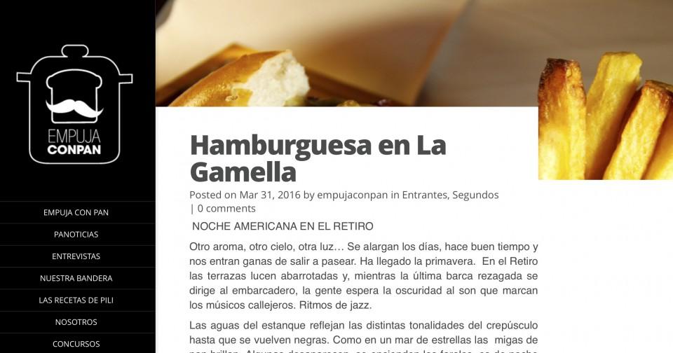 Hamburguesa en La Gamella. La opinión de Empuja con pan