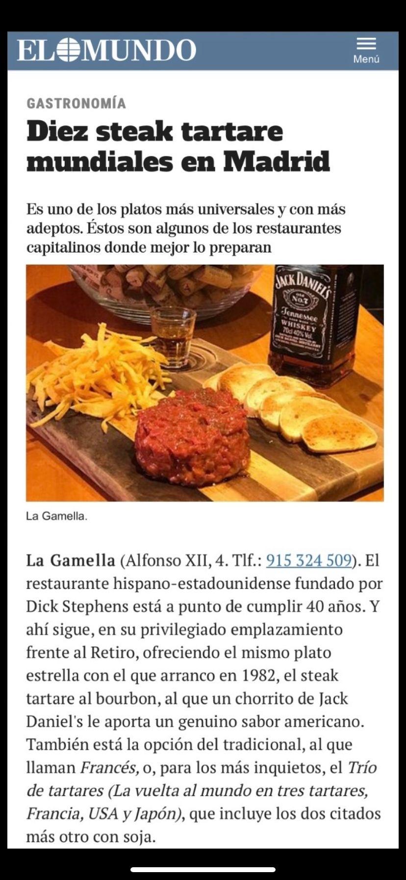 Diez steak tartare mundiales en Madrid